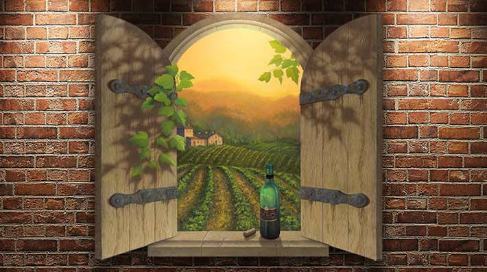 Wine-Painting-on-wall