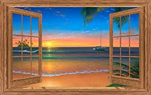 Beach Painting of Paradise