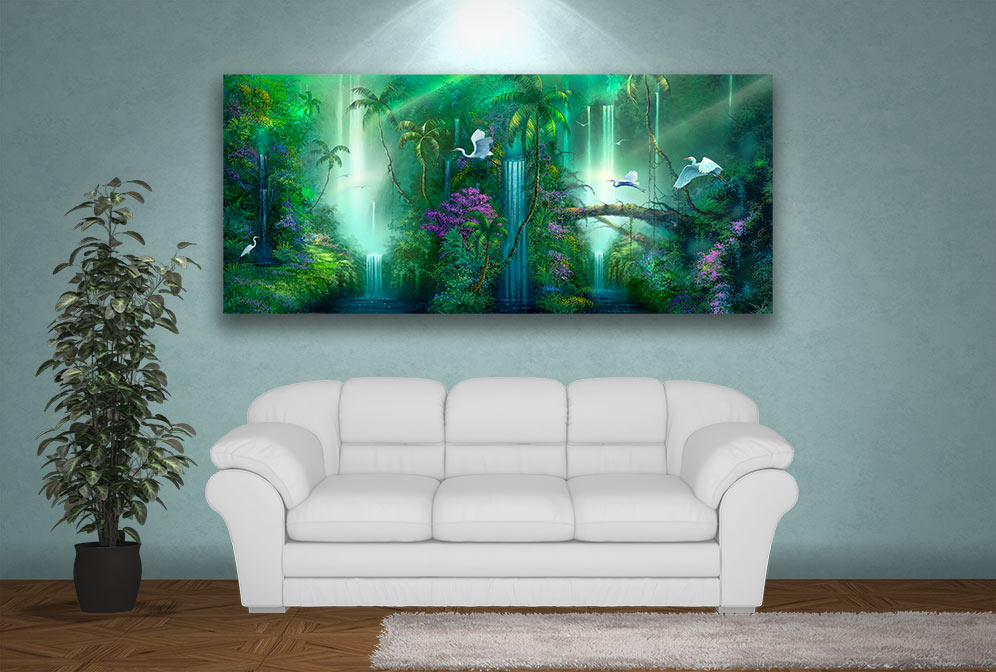 Fantasy Falls Waterfall Painting
