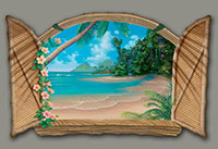Seascape Painting of Paradise