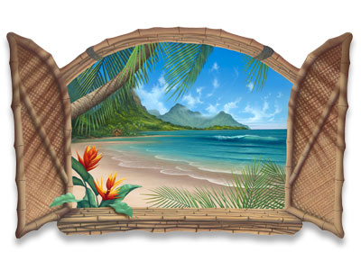 Painting-Of-Paradise-Wall-Art