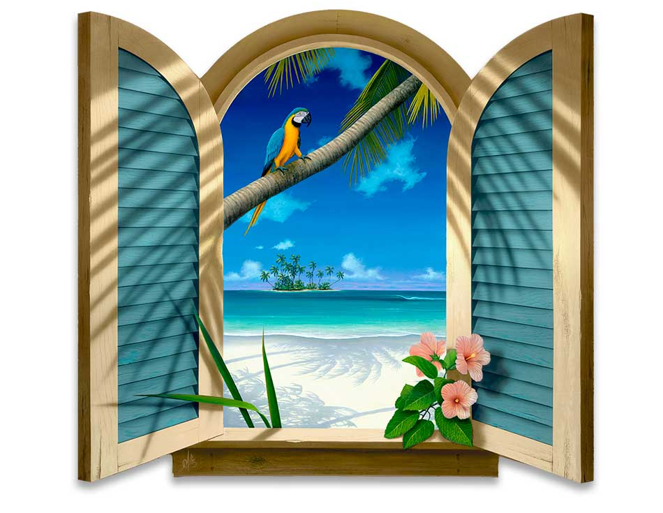 Window To Paradise Paintings By Artist David Miller