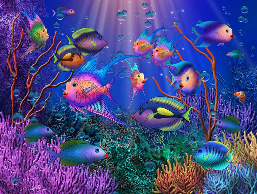 Colourful Fish Painting