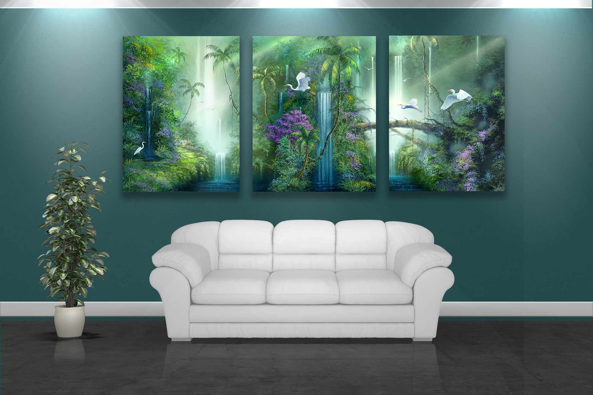 Forest paintings by artist david miller A wall painting